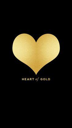 Black gold heart iphone phone wallpaper background lock screen