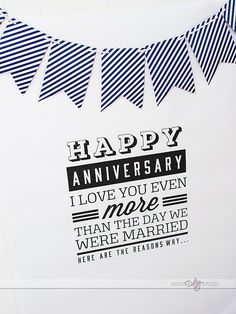 LOVE this!!  Printable anniversary poster.  Just get it printed as an engineer print and then write all the reasons around it.  Darling!