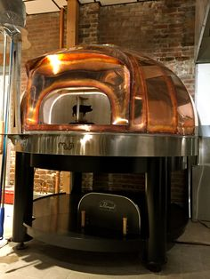 Moodys in Waltham, MA | Copper dome wood fired oven | Maine Wood Heat Co. | Beauty Wood Oven, Wood Fired Oven, Wood Fired Pizza, Indoor Pizza Oven, Diy Pizza Oven, Pizza Ovens, Grill Oven, Kitchen Grill, Pizza Restaurant