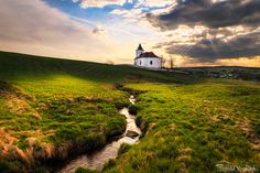 Church at sunset...  Church in the Ore Mountains, Czech Republic, May 2015 by Tomáš Vocelka on 500px.