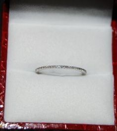 Diamond wedding band 14K White Gold at EidelPrecious via Etsy.com