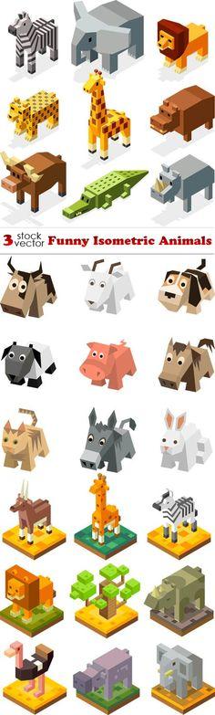 Vectors - Funny Isometric Animals