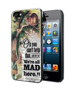Alice In Wonderland Cheshire Cat C Samsung Galaxy S3 S4 S5 Note 3 case, iPhone 4 4S 5 5s 5c 6 case, iPod Touch 4 5 case