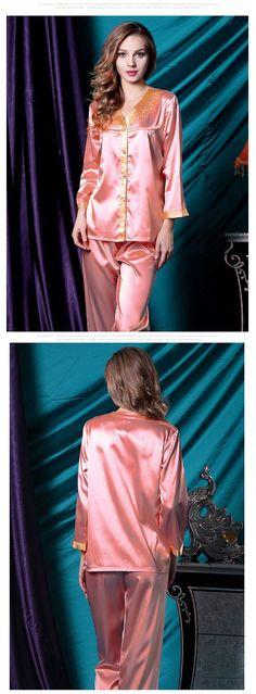 Women's silk robes silk pajamas silk nightgowns silk nighties silk sleepwear silk nightwear silk chemise camisole (870)