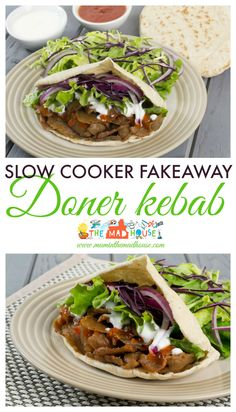 Fakeaway slow cooker doner kebab - Mum In The MadhouseYou can find Slimming world recipes slow cooker and more on our website.Fakeaway slow cooker doner kebab - Mum In The Madhouse Lamb Mince Recipes, Kebab Recipes, Crockpot Recipes, Cooking Recipes, Healthy Recipes, Slow Cooker Lamb Recipes, Slow Cooker Mince, Slow Cooker Fudge, Shrimp Recipes