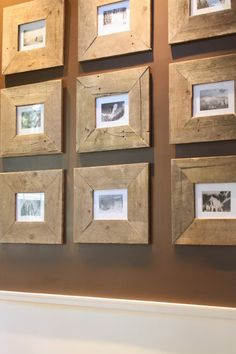 My Sweet Savannah~turn free pallets into these gorgeous rustic picture frames! Thrifty Thursday is up on the blog!