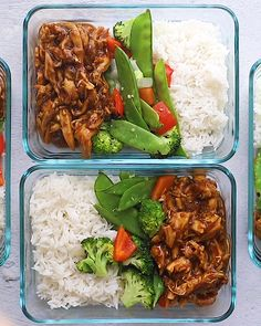 Crock Pot Teriyaki Chicken 2019 Meal prep the easiest crock pot teriyaki chicken with stir-fried veggies and white rice for a balanced healthy meal all week long. The post Crock Pot Teriyaki Chicken 2019 appeared first on Lunch Diy. Clean Recipes, Easy Healthy Recipes, Lunch Recipes, Healthy Lunchbox Ideas, Meal Prep Recipes, Healthy Packed Lunches, Healthy Alternatives, Recipes Dinner, Healthy Meals Crockpot