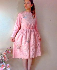 Vintage Pink Wedding Dress 1910 1920s Wedding by boutiqueseragun