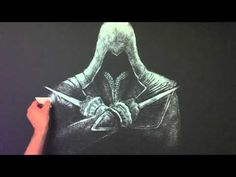 Salt Art - Assassin's Creed (by bashirsultani) video of someone creating a picture using salt!!!