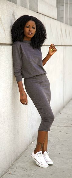 Sweatshirt Midi Dress / Style Pantry