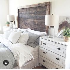 bedding and dresser