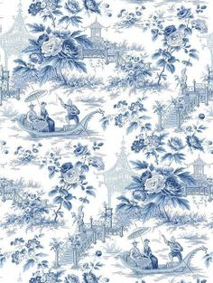 toile with a Chinoiserie