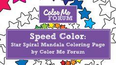 Star Spiral Mandala Speed Coloring
