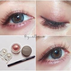 After you master the step-by-step makeup tutorial you can begin experimenting with distinctive looks. Simple makeup advice for beginners include things like picking the proper shade of foundation. Pale Makeup, Makeup Inspo, Eyeshadow Makeup, Makeup Cosmetics, Make Up Looks, Ulzzang Makeup, Korean Eye Makeup, Kawaii Makeup, Make Up Inspiration
