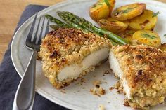 Hazelnut-Crusted Chicken - This baked chicken recipe uses simple ingredients and a quick pan-fry to create the nutty, crunchy crust.