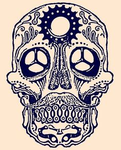 bicycle sugar skull - Google Search