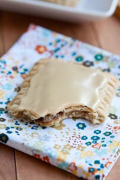 homemade brown sugar pop tarts...a bit healthier than the boxed stuff