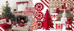 Nice Decoration Interiors Living Space For Christmas Red Theme with how to build a multi level