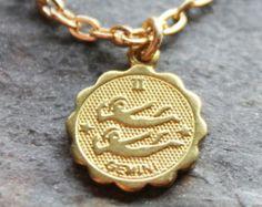 Gemini pendant necklace , astrological pendant , birth sign necklace
