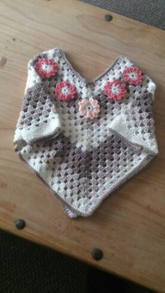 Childs poncho. Pattern on you tube.