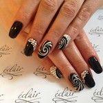 Black & white #eclair  #nails #nailart  #nailporn  #nailswag