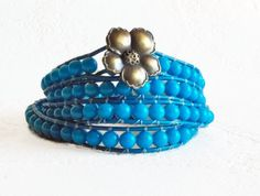 Hey, I found this really awesome Etsy listing at https://www.etsy.com/listing/95557047/bohemian-4x-wrap-bracelet-in-turquoise