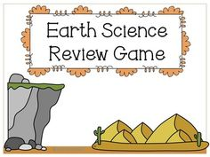 FREEBIE! Earth science review game. This game reviews earth's layers, earthquakes, volcanoes, deposition, weathering, and erosion.
