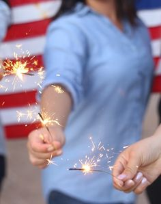 Sparklers are just the best fun.
