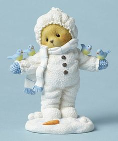 Another great find on #zulily! Cherished Teddies Snowsuit Figurine #zulilyfinds