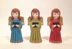 Vintage Christmas Angel Paper Mache Figurines / by GumdropVintage, $39.00