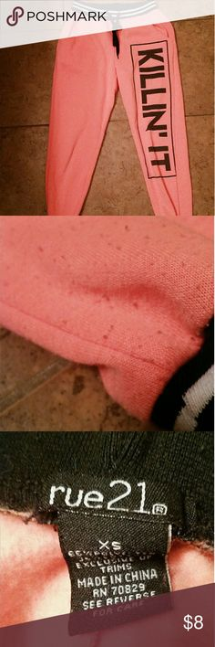 Rue 21 pink sweat pants Really cute, just too small for me. In good condition Rue 21 Other