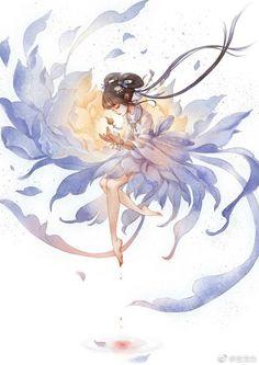 Amazing Drawings, Amazing Art, Art Drawings, Light Art, Watercolor Illustration, Manga Anime, Anime Chibi, Kitten Drawing, Anime Art Girl