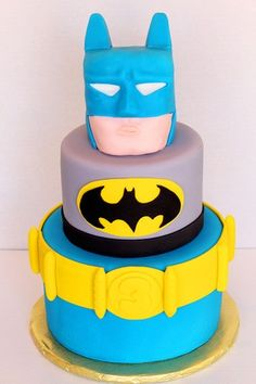 Logan/Rylans bday Batman Cake