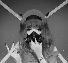 "shijuri: ""「 悲 」 Artist : AOI OGATA """