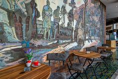 Doppio Zero restaurant design by Design Partnership. Artwork Wall, Interior Photography, Hospitality Design, Restaurant Design, Contemporary Design, Architecture Design, Zero, Australia, Interior Design