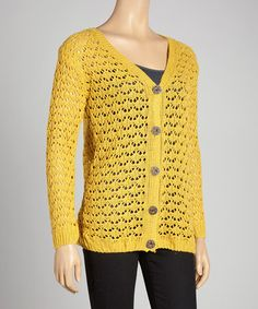 This Yellow Crochet Cardigan is perfect! #zulilyfinds