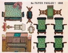 CASITA DE PAPEL: dollhouse paper: Paper Parlor 1892