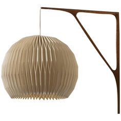 Sculptural Wall Lamp in Teak with Lamp Shade by Le Klint