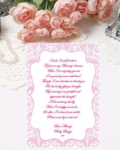 Baby Shower Thank You Note Printable Thank You Notes by PapierCouture