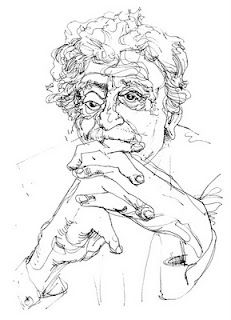 Blind contour Kurt Vonnegurt