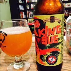 Toppling Goliath King Sue. American Double/Imperial IPA. 8.5% ABV. Toppling Goliath Brewery Co., Iowa.
