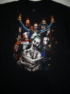 Suicide Squad Group Harley Joker Killer Croc Deadshot Dc Comics T-Shirt #SuicideSquad #GraphicTee
