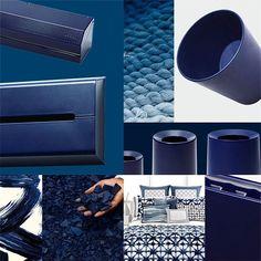 藍 Indigo Navy Color / new trend #ideaco#navy#interior#cool#trend#material#design