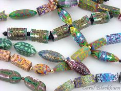 Roschach or Inside Out beads Polymer Clay Beads, Inside Out, Beaded Bracelets, Necklaces, Pendants, How To Make, Jewelry, Inspiration, Fantasy