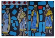 Bitumen Mosaic Collage: Ancient Mesopotamia - The Sumerians