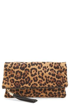 Sole Society Print Foldover Clutch available at #Nordstrom