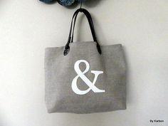 sac cabas en lin avec & en simili croco blanc