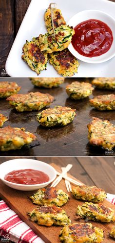 Baked Zucchini Tots | Your kids will gobble them up!  #veggies