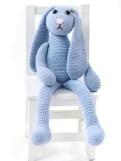 Free crochet pattern for this cute floppy bunny from Caron Yarns.  One Skein Bunny | Yarn | Free Knitting Patterns | Crochet Patterns | Yarnspirations
