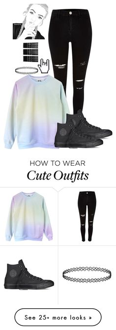 """Tumblr Girl inspired outfit"" by marleen03 on Polyvore featuring Converse and Monki"